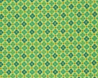 Denise Schmidt - Flea Market Fancy Collection - Medallion - Green 100% Quilters Cotton Available in Yards, Half Yards and Fat Quarters