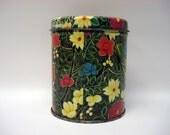 Bright flower tin