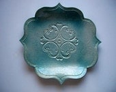 4 Point Lotus Plate with Scroll