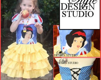 Two Piece Snow White Dress Set Size 2 3 4 5 6 7 8