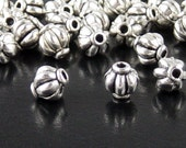 Bead Spacer 50 Antique Silver Corrugated Round 6mm x 5.4mm (1110spa06s1)xz