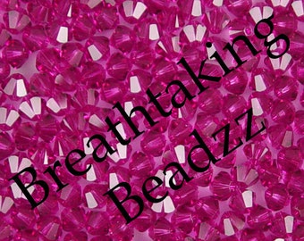 CLEARANCE Swarovski Beads Crystal Bead 24 Fuchsia 6mm Bicone 5328 Many Colors In Stock,os
