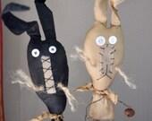 Primitive Bunny crock sticks