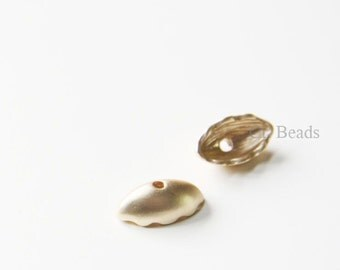6pcs Matte Gold Tone Base Metal Bead Cap - End Caps 5x8x15mm (154C-R-152)