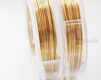 Artistic Wire 18 Gauge Silver Plated Lead/Nickel Safe - Gold Color 20FT