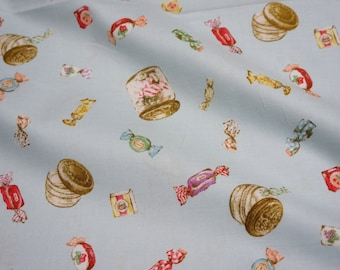 ON SALE 1 meter Retro style Japanese fabric sweets nc52
