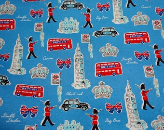 Japanese Fabric London theme Cotton Canvas  (n232)