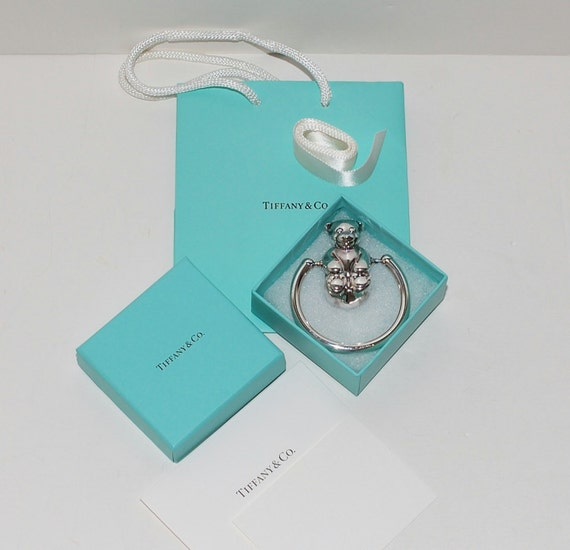 Tiffany Teething Ring Rattle Sterling Silver
