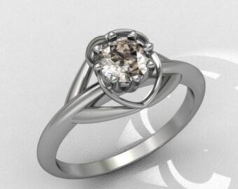 18ct white gold ring with diamond (engagement diamond ring)