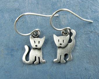 Tiny kitten earrings