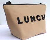 Insulated Lunch Bag Tote  Eco Friendly Zip Brown Lunch Bag Man Lunch Bag by BonTons