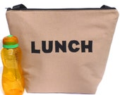 Insulated Large Lunch Bag Man Lunch Bag Brown Work lunch Bag by BonTons