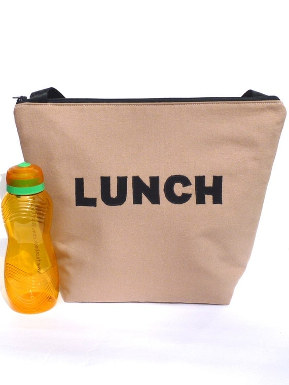 insulated large lunch bag man lunch bag brown work lunch tote. Black Bedroom Furniture Sets. Home Design Ideas