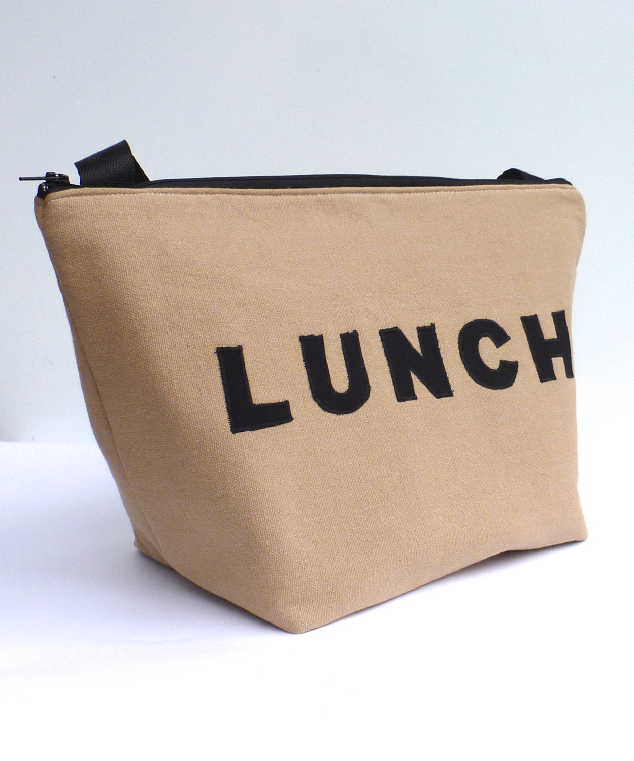 Insulated Lunch Bag Tote Eco Friendly Zip Brown Lunch By