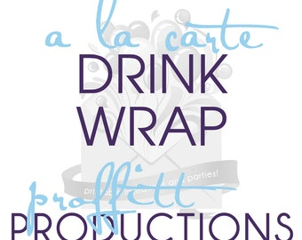 Printable drink wrap or water bottle wrap in any theme offered in my store