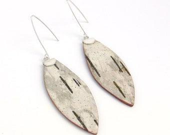Birch bark earrings, Seeds