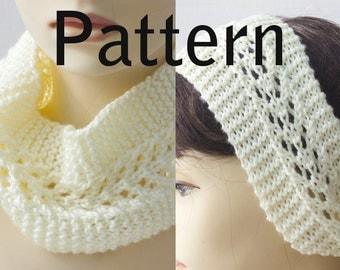 Knitting Pattern for Lace Headband, Knit Ear Warmer PDF Pattern, Head Wrap Digital Download Pattern