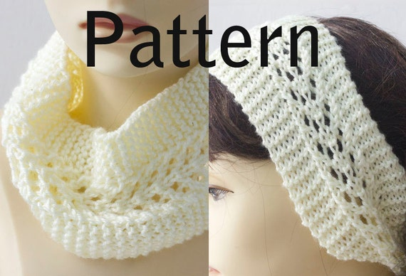 Knitting Pattern for Lace Headband Knit Ear Warmer by ...