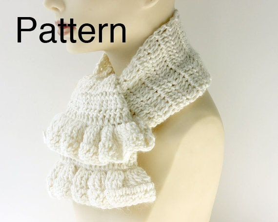 How To Crochet Ruffle Rose Scarf Free Pattern Tutorial For Beginners : Crochet Pattern Ruffle Scarf Crochet Free Patterns LONG ...