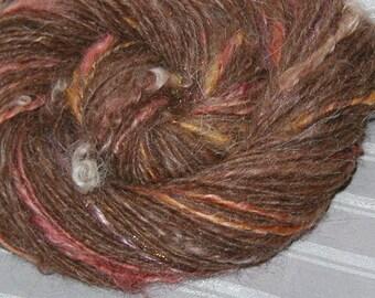 Drama Llama handspun llama yarn with wensleydale locks