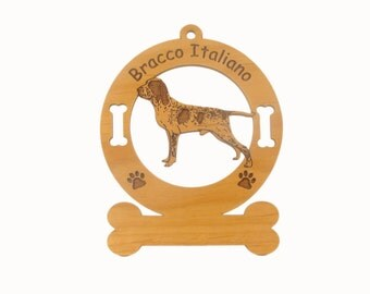 1970 Bracco Italiano Dog Standing Personalized Wood Ornament