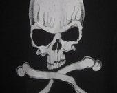 vintage white skull worn shirt punk