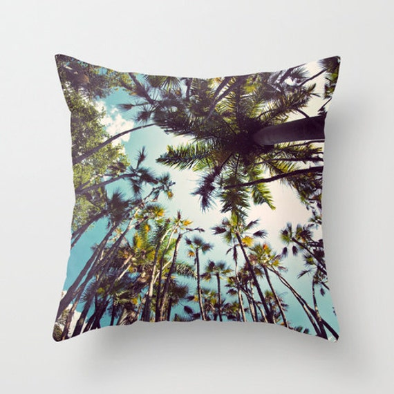 Decorative Pillow Palm Tree : Palm Tree Pillow Case Tropical Pillow Cover Allover Print
