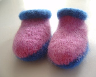 Children's Hand Knit Felted Slipper Clogs Made in Maine