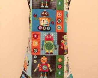Robot Themed Child Apron