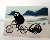 Greeting card - Beach Sloths
