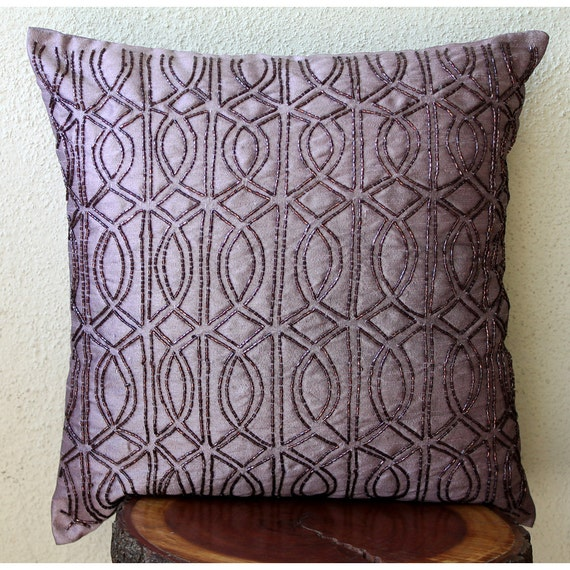 Luxury Throw Pillows For Couch : Luxury Purple Throw Pillows Cover For Couch 16x16