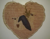 Prim Heart with Crow