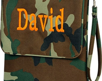 SALE - Personalized Tablet Case in Camo- Nook, iPad, Kindle