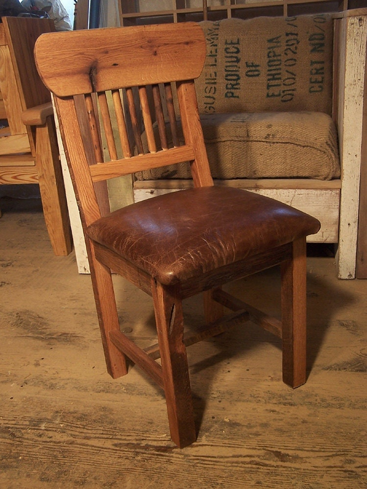 Reclaimed Oak Mission Style Dining Chairs By Barnwoodfurniture