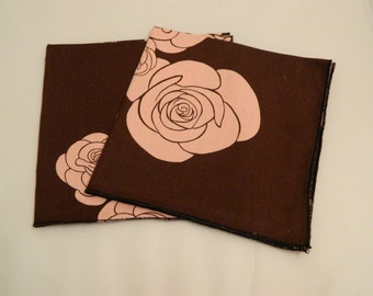 Lunchbox  Napkins Set of  2 Large  Re Usable Eco Friendy Hand Made in the USA  Premium Quality Hand Made