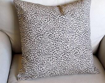 24x24 designer decorative EURO pillow COVER Cub in steel gray/fossil