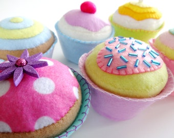 Felt Cupcakes Sewing Pattern