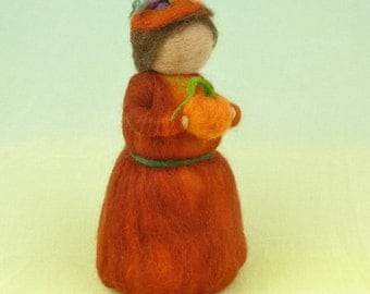 Autumn Garden Wool Doll Needle Felted Puppet