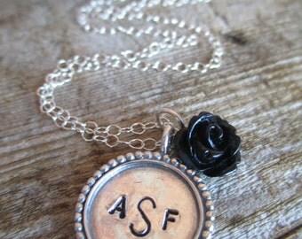 Sterling Monogram Necklace