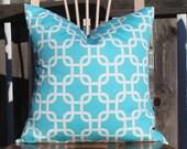 Aqua Gotcha Pillow Cover