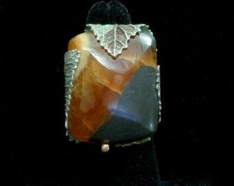 Stunning Ammonite Leaf Ring