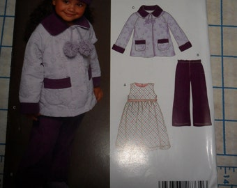 NEW LOOK Pattern 6447 - Uncut - sizes half to 4 -COAT Hat Dress and pants