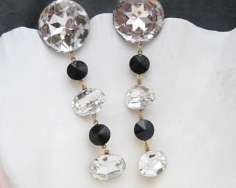 Long Earrings Sparkling Rhinestone Pageant Prom E5178