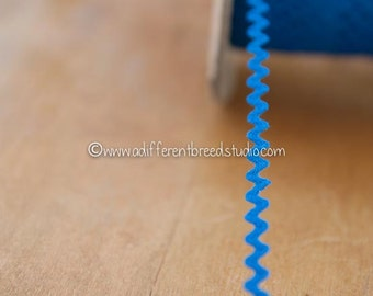 "3 yards 3/8"" Royal Blue - Vintage Fabric Trim Juvenile 70s New Old Stock Cotton"