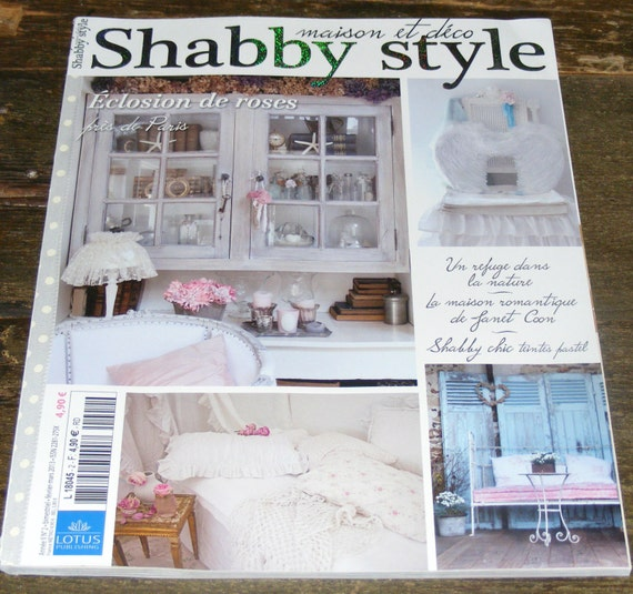 Shabby style french magazine maison et deco febuary march 2013 for Revue maison bricolage et decoration