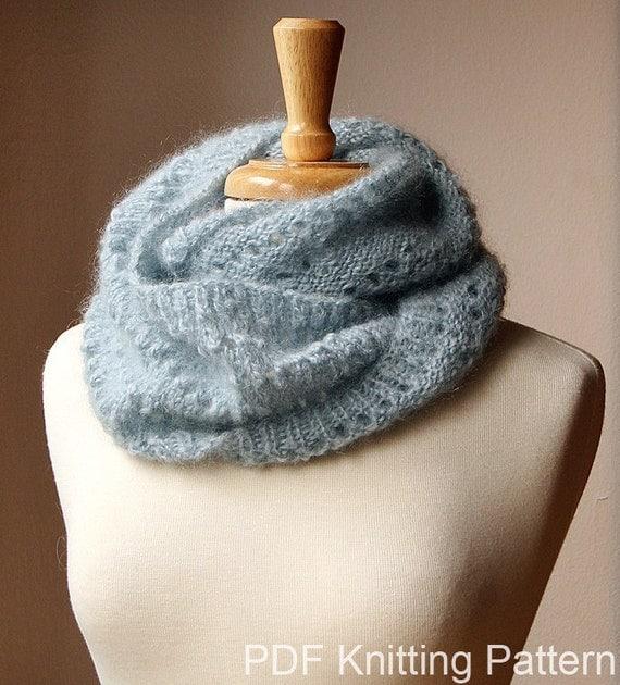 Infinity Scarf Knitting Pattern - Fall Winter Fashion - Snood KNITTING PATTERN - Genevieve Cowl - PDF Digital Download.