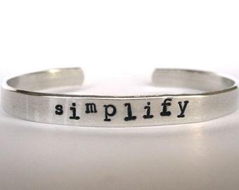 Simplify- Cuff Bracelet