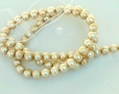 Freshwater Pearl round potato pearl Vintage Green champagne pearl--6mm Full Strand15 inch strand---wholesale pearl promotion