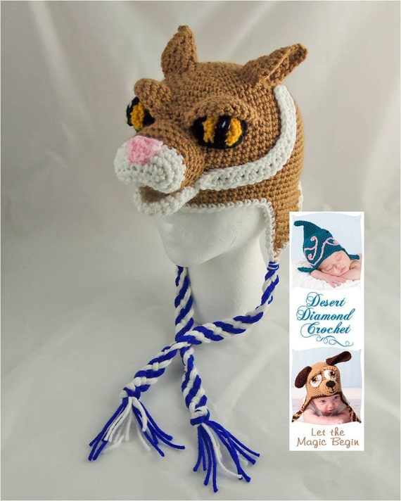 Crochet Pattern 079 - University of Kentucky Wildcat Hat - All Sizes