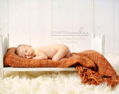 DIY Large Traditional Newborn Infant Photo Prop Posing Baby Doll Bed
